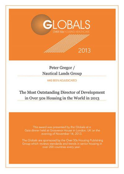 Global Awards 2013 Peter Gregor