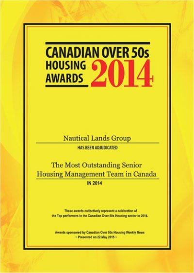 Canadian Over 50's Awards 2014 Nautical Lands Group